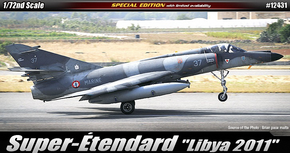 Academy 1:72 - Super Etendard Libya 2011 Re-Issue