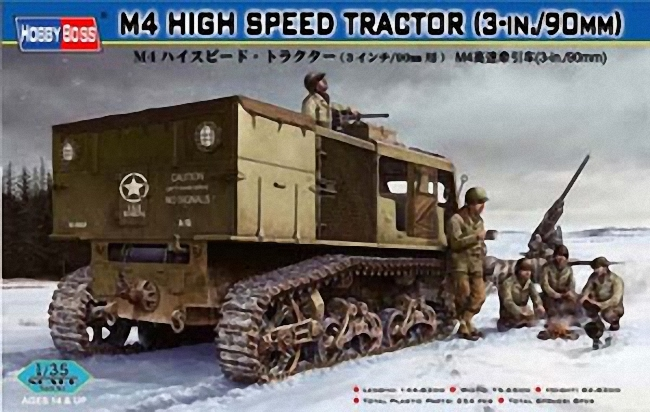 Hobbyboss 1:35 - M4 High Speed Tractor (3in / 90mm)