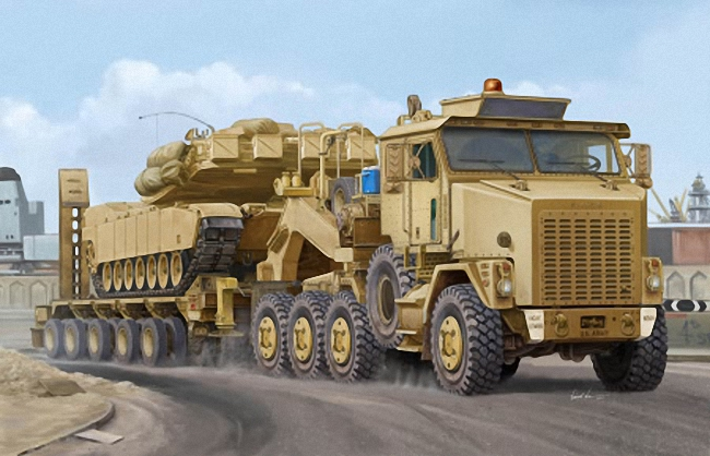 Hobbyboss 1:35 - Oshkosh M1070 Truck Tractor and M1000 HETS (Heavy Equipment Transporter Semi-trailer)