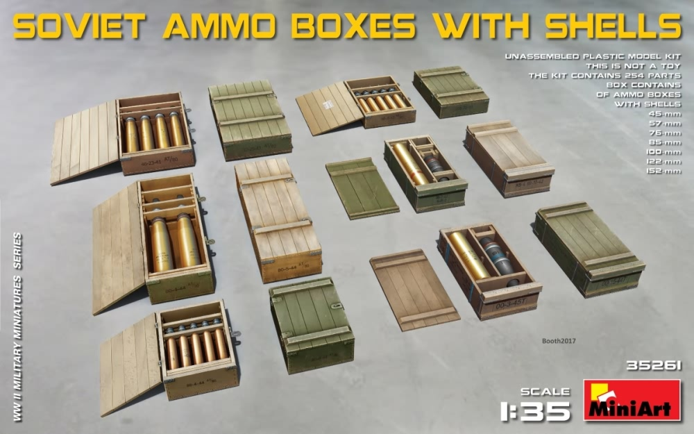 Miniart 1:35 - Soviet Ammo Boxes with Shells