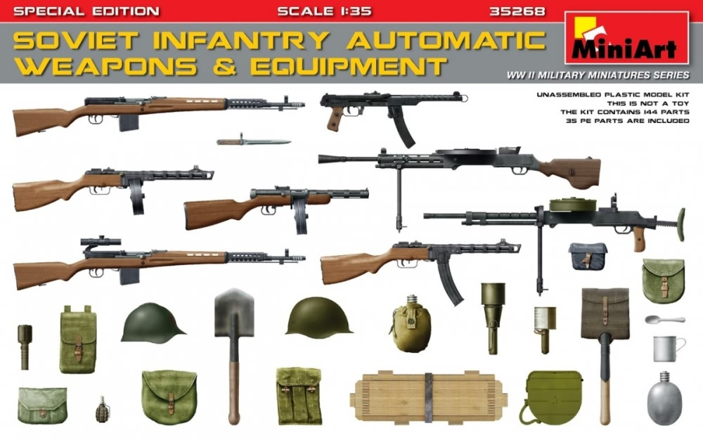 Miniart 1:35 - Soviet Infantry Weapons & Equipment (PE)