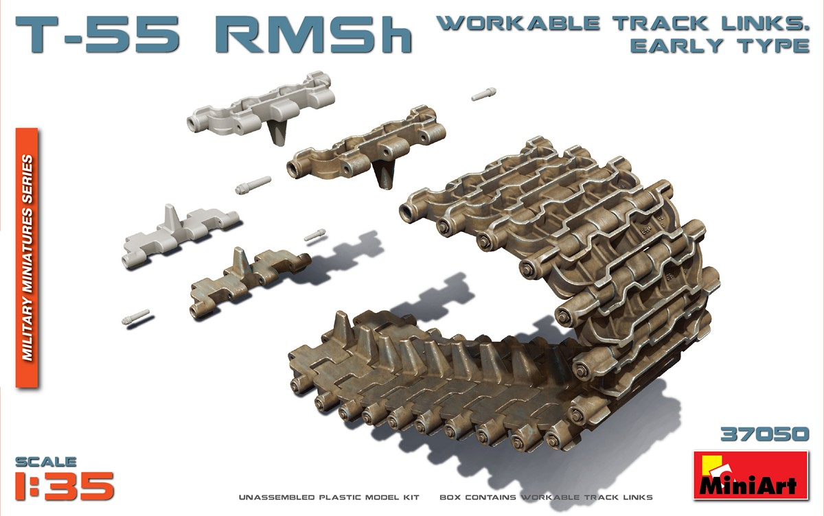 Miniart 1:35 - T-55 RMSh Workable Track Links (Early)