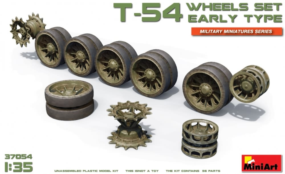 Miniart 1:35 - T-54 Wheels Set Early Type