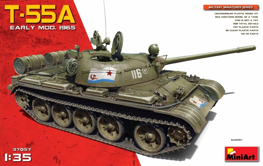 Miniart 1:35 - T-55A Soviet Medium Tank Mod. 1965