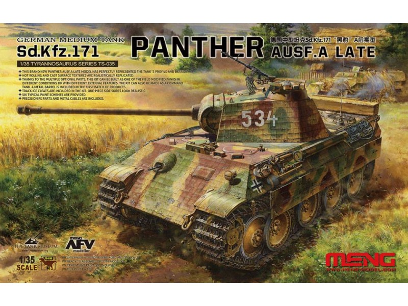 Meng Model 1:35 - Sd.Kfz.171 Panther Ausf. A (Late)