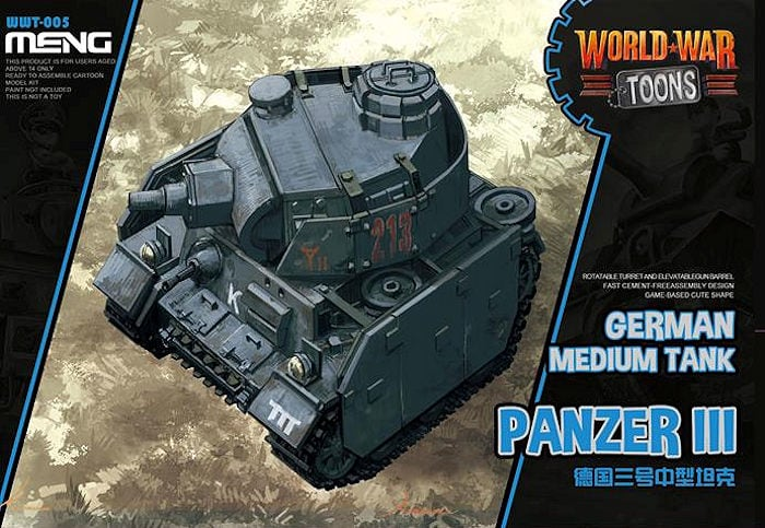 Meng Model - German Panzer III World War Toon