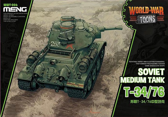 Meng Model - Soviet T-34/76 World War Toon