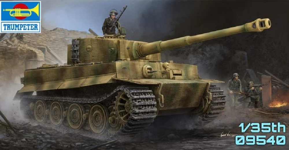 Trumpeter 1:35 - Pz.Kpfw.VI Ausf.E Tiger I + Zimmerit Late