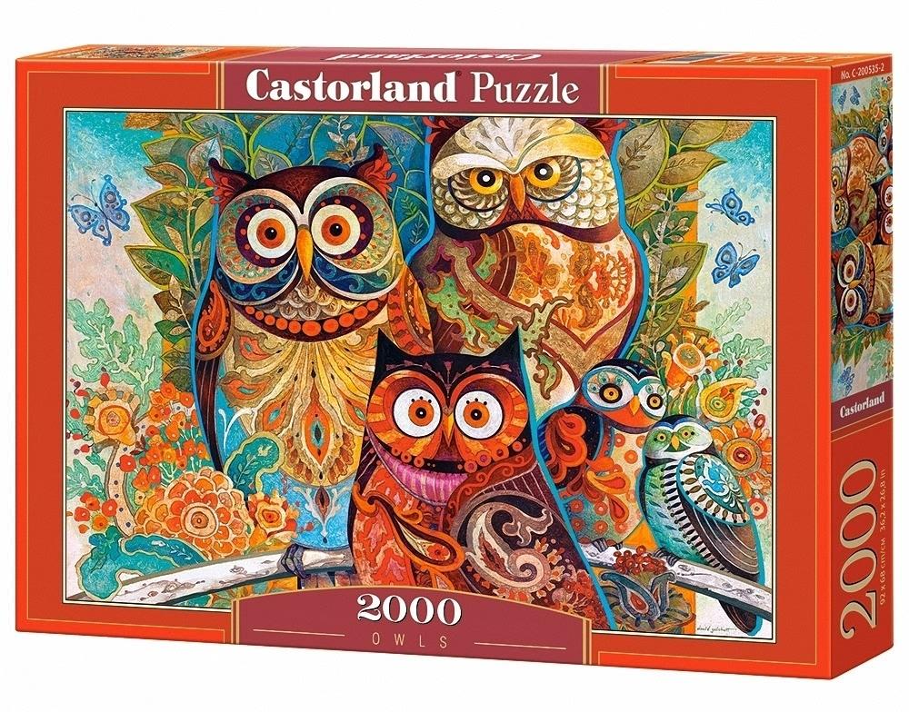 (CSC200535) - Castorland Jigsaw 2000 pc - Owls