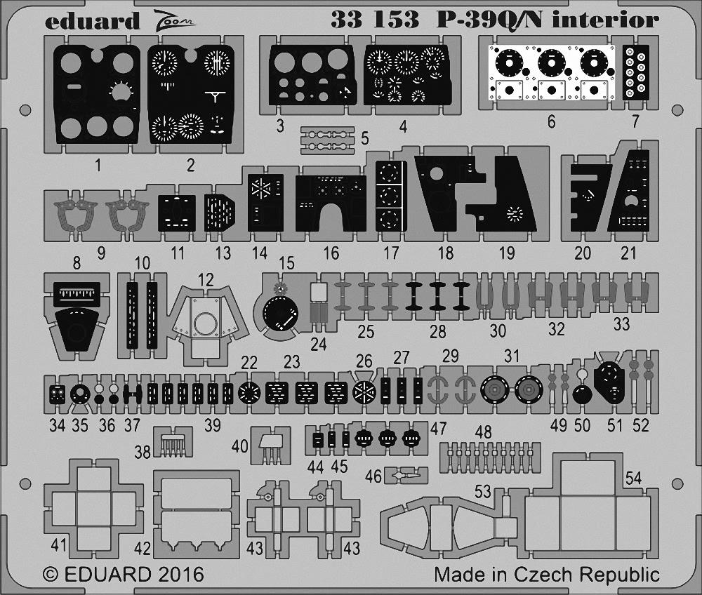 EDUARD ZOOM 33153 Interior for Kitty Hawk Kit P-39Q//N in 1:32