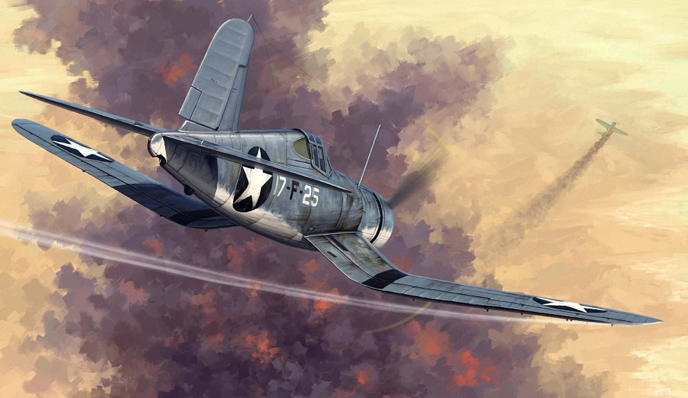 (HBB80381) -Hobbybo 1 48 - F4U -1 Corsair - Tidig version