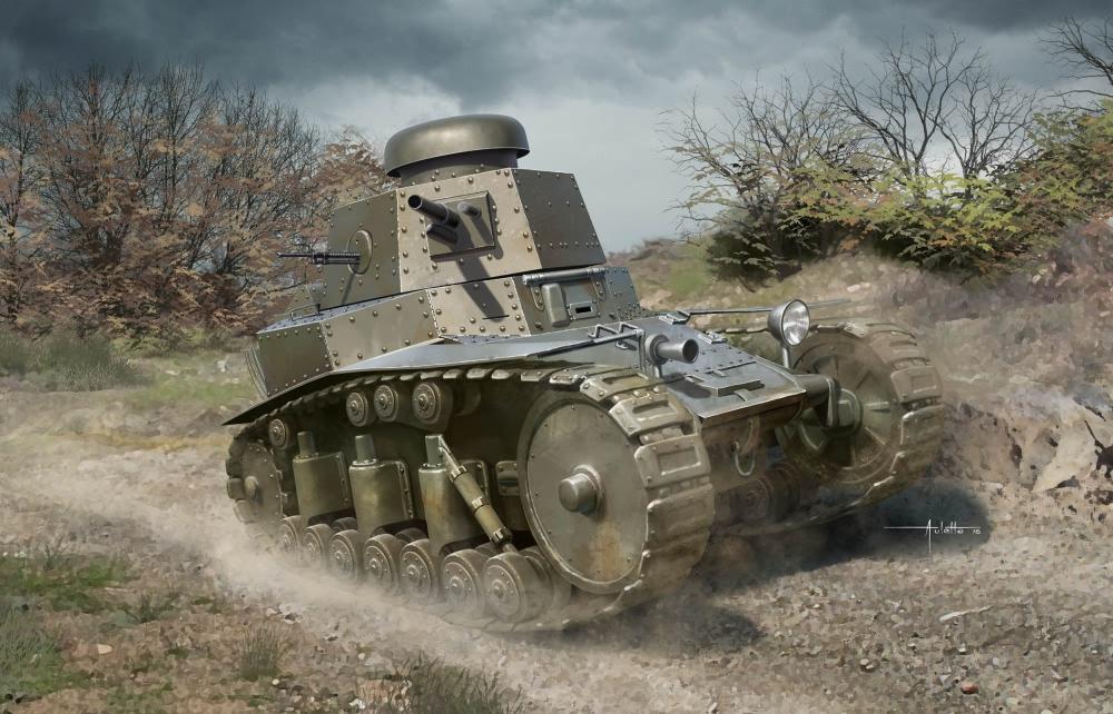 (HBB83873) -Hobbybo 1 35 –sovjetisk T -18 ljus Tank MOD1927