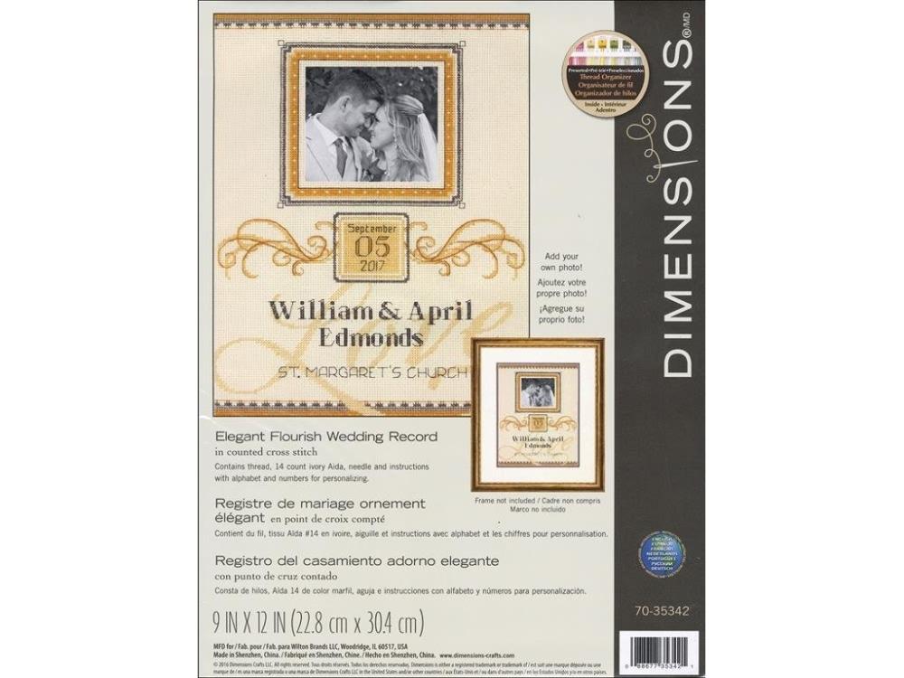 D70-35342 * Dimensions Counted X Stitc h Elegant Flourish Wedding