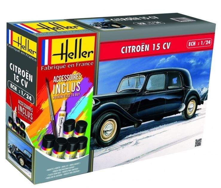 (HEL56763) -Heller 1 24 Giff Set - Citroen 15 CV