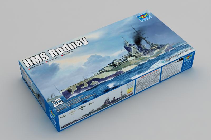 TRU06718 - Trumpeter 1 700 - HMS Rodney